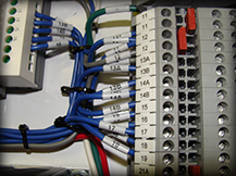 Control panel wiring sample by Data Cable Company