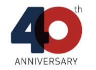 A graphic that says 40th anniversary