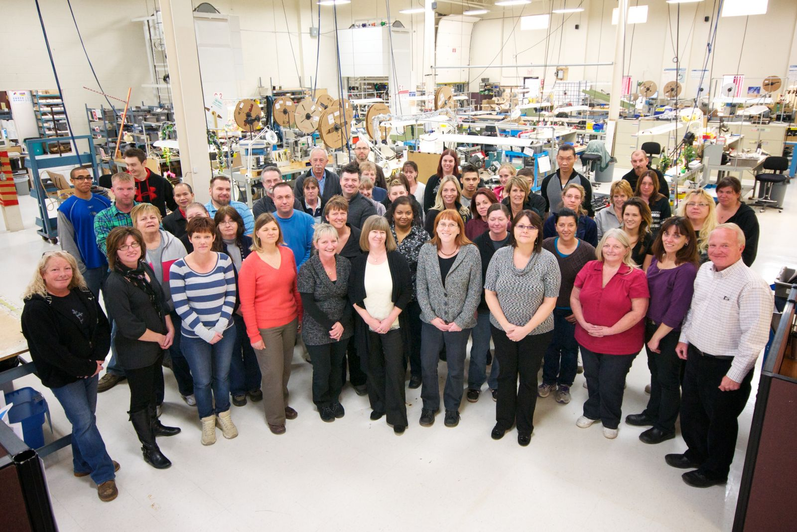 The Current Data Cable Team together on the manufacturing floor