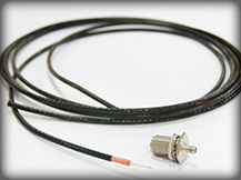 A sample coaxial cable assembly by Data Cable